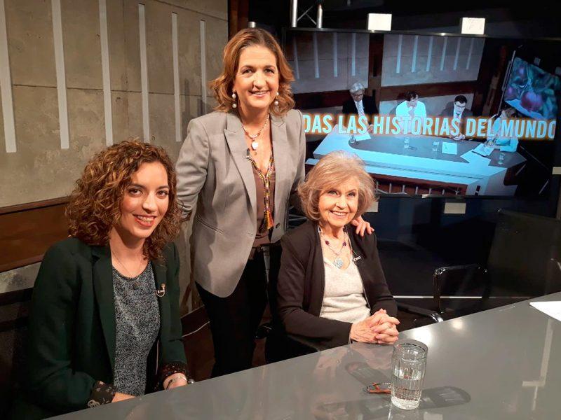 Lara Diloy, Cecilia Rodrigo y María José Peláez en Déjate de historias TV